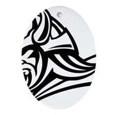Primal Viking 2 Oval Ornament
