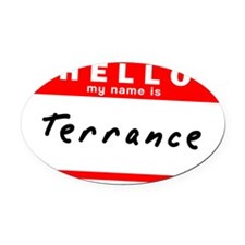 Terrance Oval Car Magnet