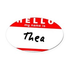 Thea Oval Car Magnet