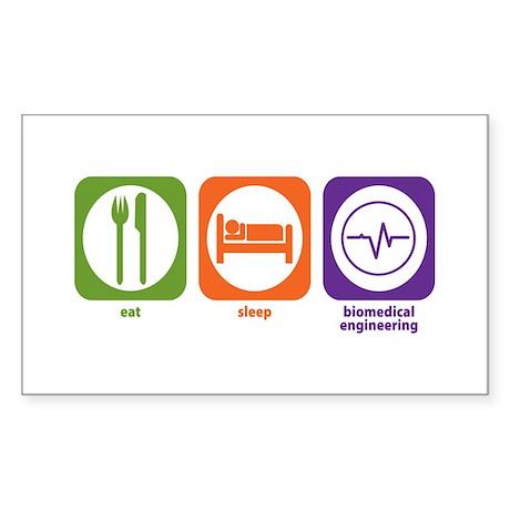 Eat Sleep Biomedical Engineering Sticker (Rectangu