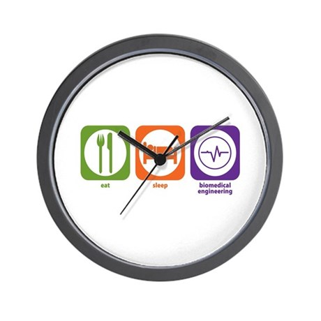 Eat Sleep Biomedical Engineering Wall Clock