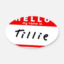 Tillie Oval Car Magnet