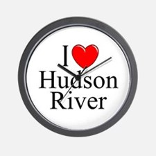"""I Love Hudson River"" Wall Clock"