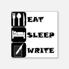 Eat Sleep Write Sticker