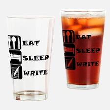 Eat Sleep Write Drinking Glass