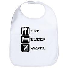 Eat Sleep Write Bib