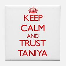 Keep Calm and TRUST Taniya Tile Coaster
