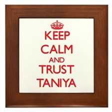 Keep Calm and TRUST Taniya Framed Tile