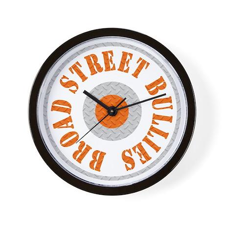 Broad Street Bullies Steel BLk Wall Clock