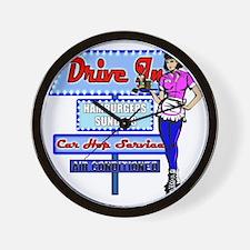 AT-THYE-DRIVE-IN-RETRO-50S Wall Clock
