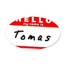 Tomas Oval Car Magnet