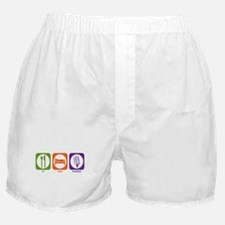 Eat Sleep Broadcast Boxer Shorts