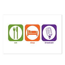 Eat Sleep Broadcast Postcards (Package of 8)