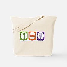 Eat Sleep Broadcast Tote Bag