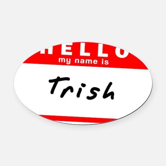 Trish Oval Car Magnet