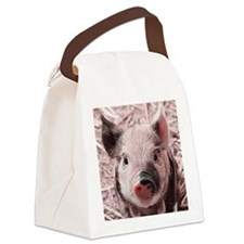 sweet piglet, pink Canvas Lunch Bag
