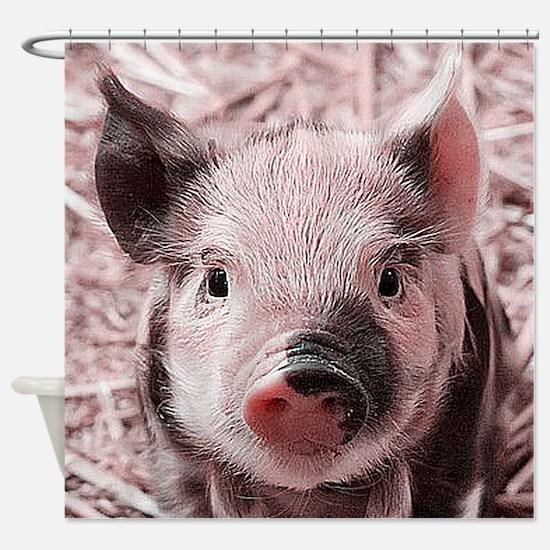 sweet piglet, pink Shower Curtain