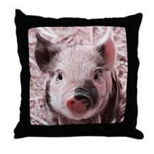 sweet piglet, pink Throw Pillow