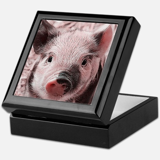 sweet piglet, pink Keepsake Box