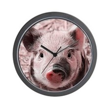 sweet piglet, pink Wall Clock