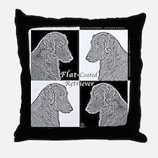 Flat-Coated Retrievers Throw Pillow