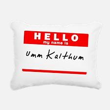 Umm Kalthum Rectangular Canvas Pillow