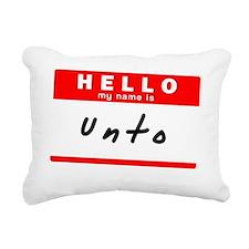 Unto Rectangular Canvas Pillow