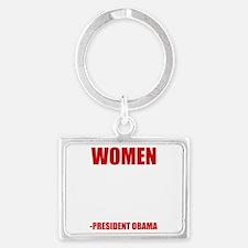 obamawomenwh Landscape Keychain