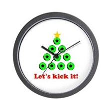 Xmas Tree - Green Wall Clock