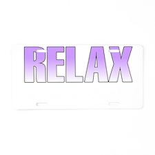 relax2 Aluminum License Plate