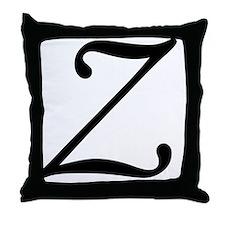 Z_letter_v4 Throw Pillow