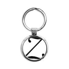 Z_letter_v4 Round Keychain