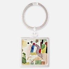 Klee: Pathetic Watercolor, Paul Kl Square Keychain