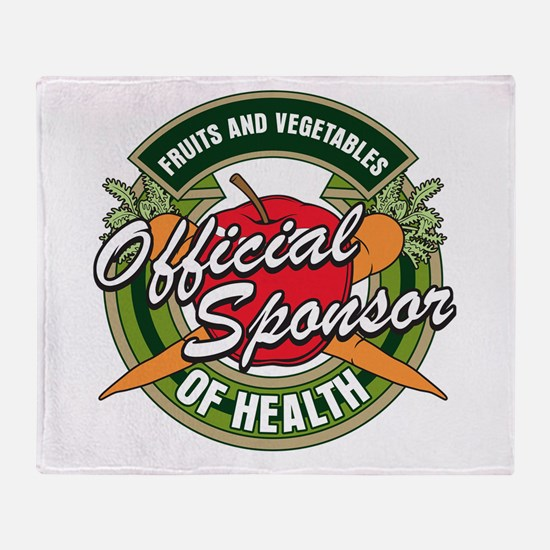 Fruits and Veggies Sponsor of Health Throw Blanket