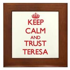 Keep Calm and TRUST Teresa Framed Tile