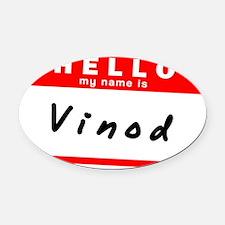 Vinod Oval Car Magnet