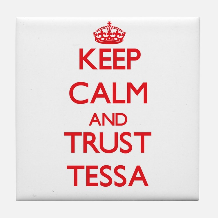 Keep Calm and TRUST Tessa Tile Coaster