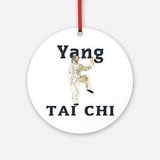 YangGoldencockLight Round Ornament