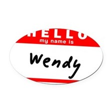 Wendy Oval Car Magnet
