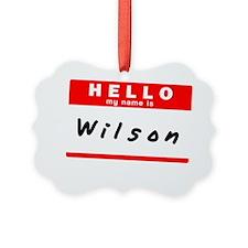 Wilson Ornament