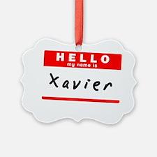 Xavier Ornament
