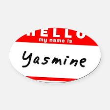 Yasmine Oval Car Magnet