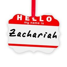 Zachariah Picture Ornament