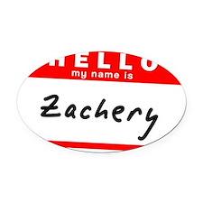 Zachery Oval Car Magnet