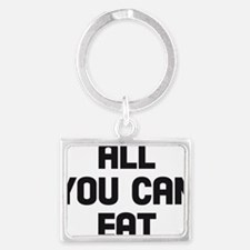 all you can eat Landscape Keychain