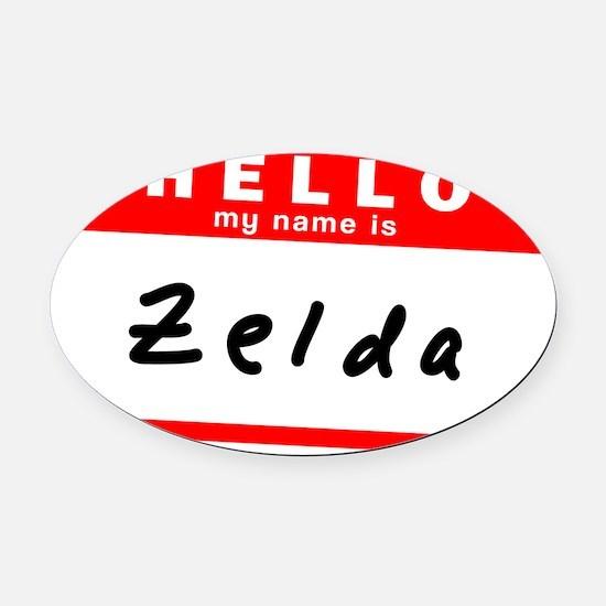 Zelda Oval Car Magnet