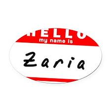 Zaria Oval Car Magnet