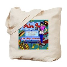 AT-THE-DRIVE-IN-temp_shower_curtain Tote Bag