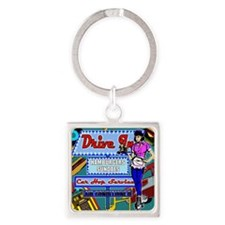 AT-THE-DRIVE-IN-temp_shower_curtai Square Keychain