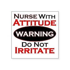 """Attitude nurse copy Square Sticker 3"""" x 3"""""""
